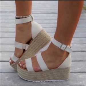 Brand new wedge sandals